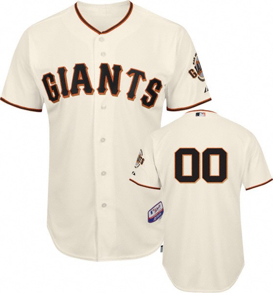 Sf Giants Authentic Home Ivory Baseball Jersey By Majestic