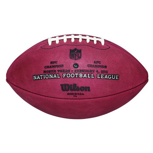 This is the game model Super Bowl football that was used in the Super Bowl